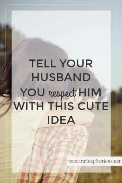 Tell Your Husband You Love Him With This Cute Idea Twinspirations