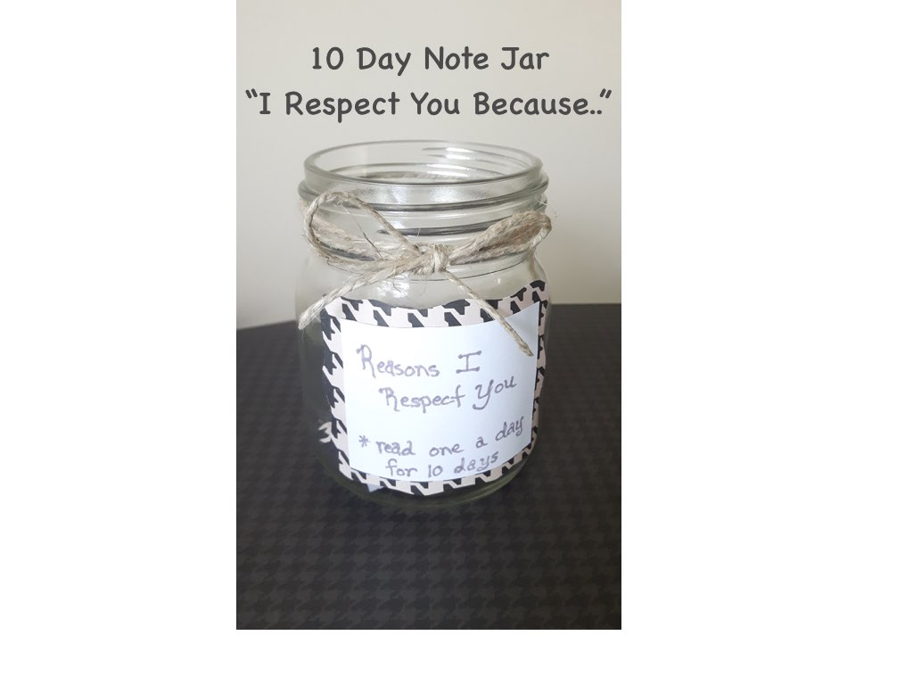 """10 day """"I Respect You"""" Jar for Your Man"""