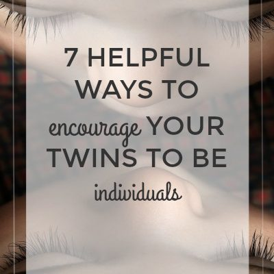 7 Helpful Ways to Encourage Your Twins to Be Individuals