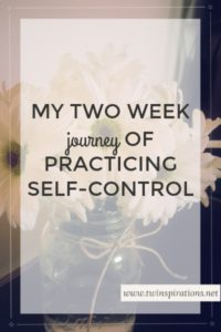 My Two Week Journey of Practicing Self-Control
