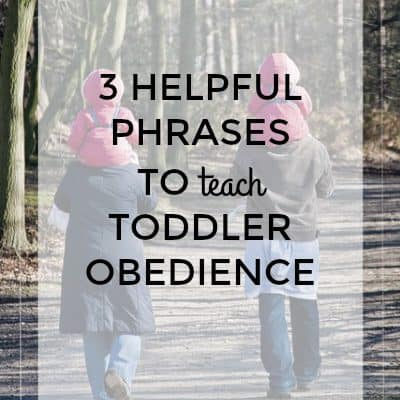 3 Helpful phrases to encourage listening in toddlers